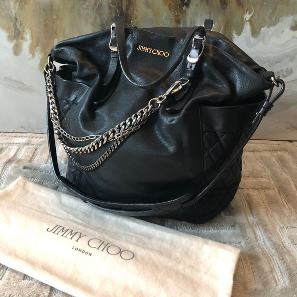 ab58676ab7 Jimmy Choo Bags | Authentic Satchel Leather Hobo Bag | Poshmark